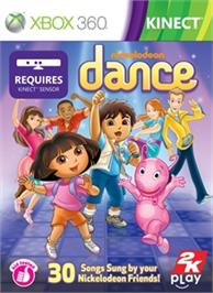 Box cover for Nickelodeon Dance on the Microsoft Xbox 360.