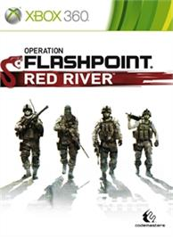Box cover for Operation Flashpoint: Red River on the Microsoft Xbox 360.