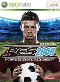 Box cover for PES2008 on the Microsoft Xbox 360.