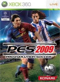 Box cover for PES 2009 on the Microsoft Xbox 360.