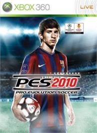 Box cover for PES 2010 on the Microsoft Xbox 360.