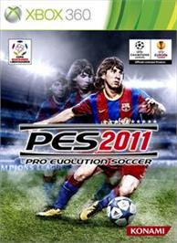 Box cover for PES 2011 on the Microsoft Xbox 360.