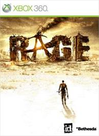 Box cover for RAGE on the Microsoft Xbox 360.