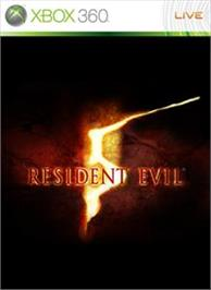 Box cover for RESIDENT EVIL 5 on the Microsoft Xbox 360.