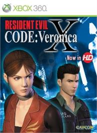 Box cover for RESIDENT EVIL CODE: Veronica X on the Microsoft Xbox 360.