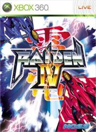 Box cover for Raiden IV on the Microsoft Xbox 360.