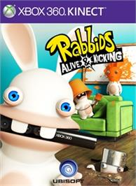 Box cover for Raving Rabbids: A&K on the Microsoft Xbox 360.