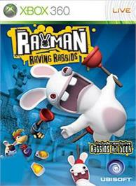 Box cover for Rayman Raving Rabbids on the Microsoft Xbox 360.