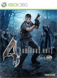 Box cover for Resident Evil 4 on the Microsoft Xbox 360.