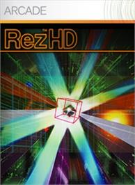 Box cover for Rez HD on the Microsoft Xbox 360.