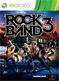 Box cover for Rock Band 3 on the Microsoft Xbox 360.