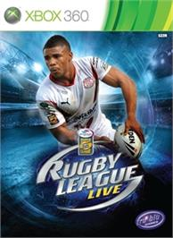 Box cover for Rugby League Live on the Microsoft Xbox 360.