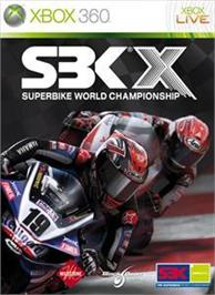 Box cover for SBK®X on the Microsoft Xbox 360.
