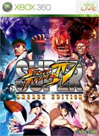 Box cover for SUPER STREETFIGHTER IV ARCADE EDITION on the Microsoft Xbox 360.