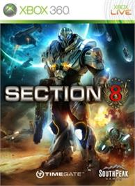 Box cover for Section 8 on the Microsoft Xbox 360.