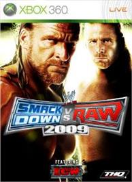 Box cover for SmackDown vs. RAW 2009 on the Microsoft Xbox 360.