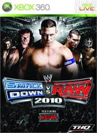 Box cover for SmackDown vs. RAW 2010 on the Microsoft Xbox 360.