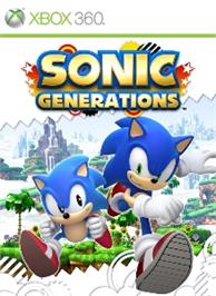 Box cover for Sonic Generations on the Microsoft Xbox 360.