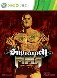 Box cover for Supremacy MMA on the Microsoft Xbox 360.