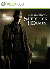 Box cover for Testament of Sherlock Holmes on the Microsoft Xbox 360.