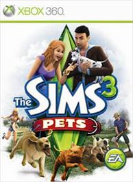 Box cover for The Sims 3 Pets on the Microsoft Xbox 360.