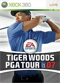 Box cover for TigerWoodsPGATOUR®07 on the Microsoft Xbox 360.
