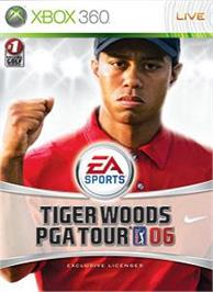 Box cover for Tiger Woods PGA TOUR06 on the Microsoft Xbox 360.