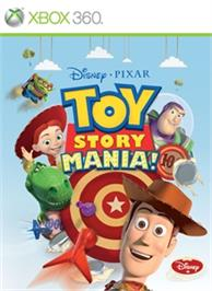 Box cover for Toy Story Mania! on the Microsoft Xbox 360.