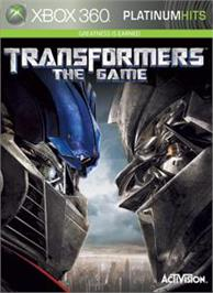 Box cover for Transformers: The Game on the Microsoft Xbox 360.