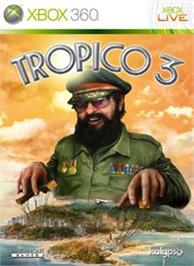 Box cover for Tropico 3 on the Microsoft Xbox 360.