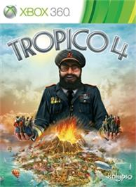 Box cover for Tropico 4 on the Microsoft Xbox 360.