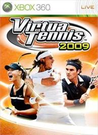 Box cover for Virtua Tennis 2009 on the Microsoft Xbox 360.
