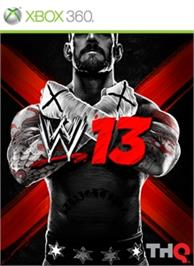 Box cover for WWE '13 on the Microsoft Xbox 360.