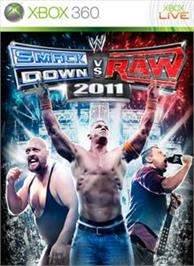 Box cover for WWE Smackdown vs. Raw 2011 on the Microsoft Xbox 360.