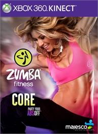 Box cover for Zumba Fitness Core on the Microsoft Xbox 360.