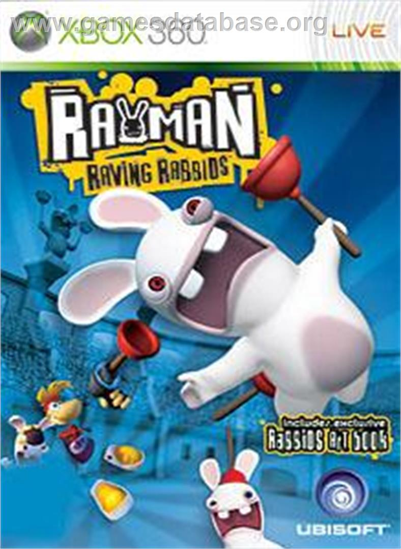Rayman Raving Rabbids - Microsoft Xbox 360 - Artwork - Box