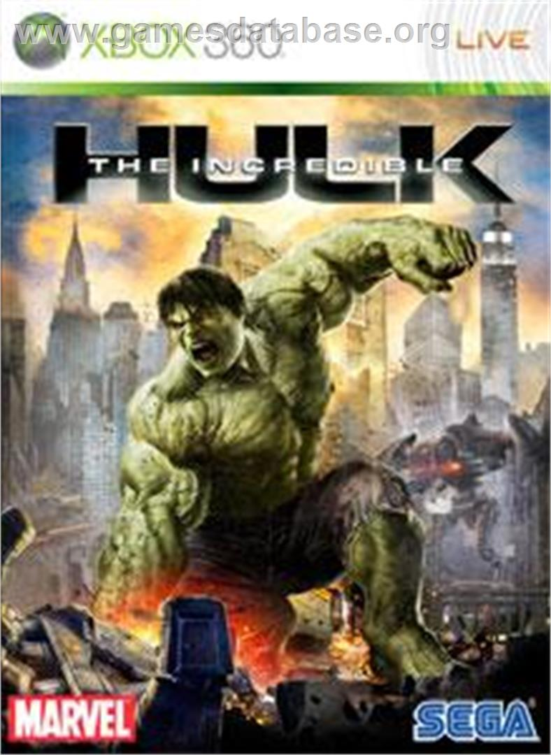 The Incredible Hulk - Microsoft Xbox 360 - Artwork - Box