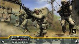In game image of AA: True Soldiers on the Microsoft Xbox 360.