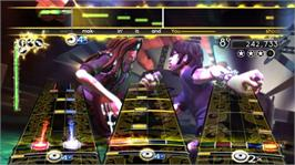 In game image of AC/DC LIVE: Rock Band on the Microsoft Xbox 360.