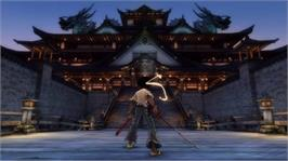 In game image of AFRO SAMURAI on the Microsoft Xbox 360.
