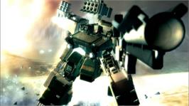 In game image of ARMORED CORE4 on the Microsoft Xbox 360.