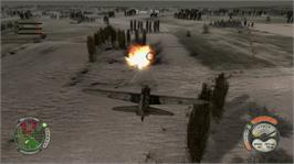 In game image of Air Conflicts: Secret Wars on the Microsoft Xbox 360.