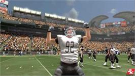 In game image of All Pro Football 2K8 on the Microsoft Xbox 360.