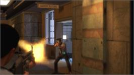 In game image of Alpha Protocol on the Microsoft Xbox 360.