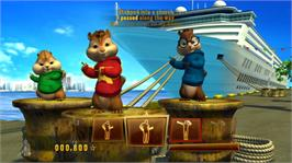 In game image of Alvin and The Chipmunks: Chipwrecked on the Microsoft Xbox 360.