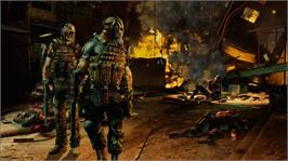 In game image of Army of TWO: TFD on the Microsoft Xbox 360.