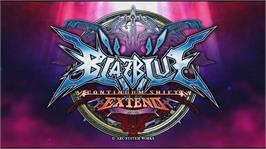 In game image of BLAZBLUE CONTINUUM SHIFT EXTEND on the Microsoft Xbox 360.