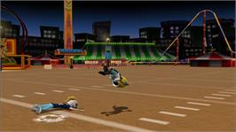 In game image of Backyard Football '10 on the Microsoft Xbox 360.