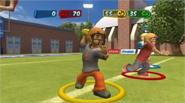 In game image of Backyard Sports: Rookie Rush on the Microsoft Xbox 360.