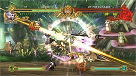 In game image of Battle Fantasia on the Microsoft Xbox 360.